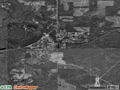 Merryville satellite photo by USGS