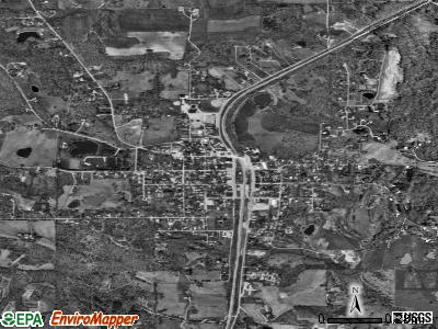Cobden satellite photo by USGS