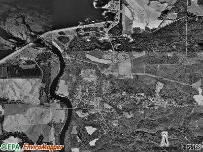 Fort Gaines satellite photo by USGS