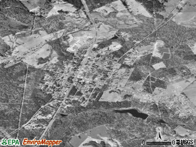 Ore City satellite photo by USGS
