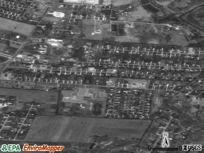 Hebron Estates satellite photo by USGS