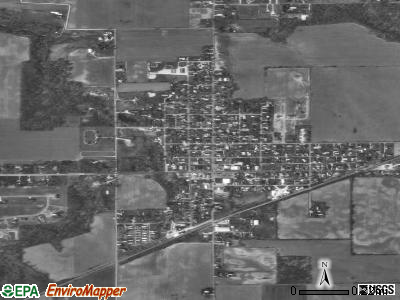 Russiaville satellite photo by USGS