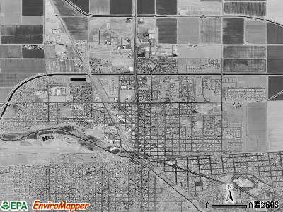 Calexico satellite photo by USGS