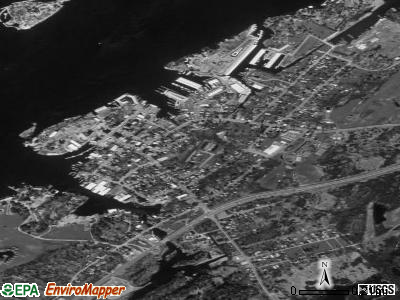 Alexandria Bay satellite photo by USGS