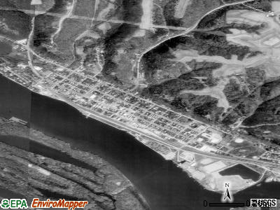Cassville satellite photo by USGS