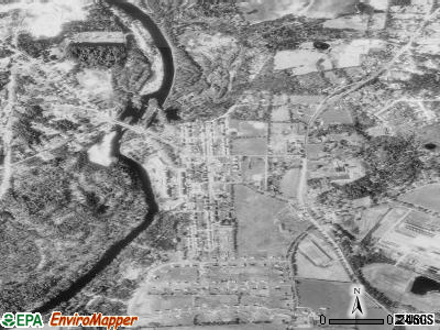 Wauregan satellite photo by USGS