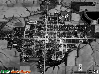 Roseville satellite photo by USGS
