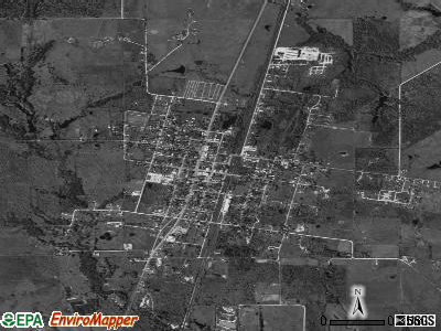 Wortham satellite photo by USGS