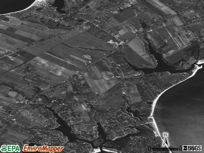 Peconic satellite photo by USGS
