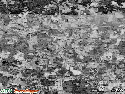 Woodworth satellite photo by USGS