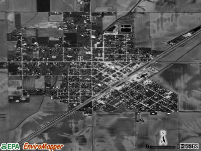 Morrisonville satellite photo by USGS