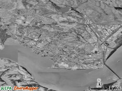 Benicia satellite photo by USGS