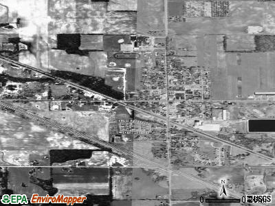 Kent City satellite photo by USGS