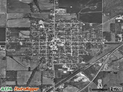 Norris City satellite photo by USGS