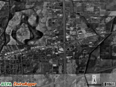 Miner satellite photo by USGS
