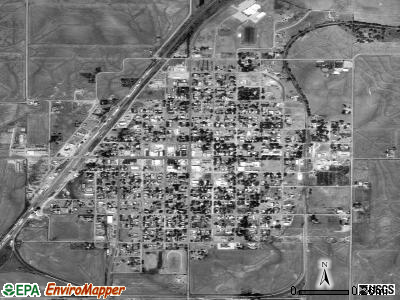 Kiowa satellite photo by USGS