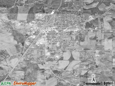 Ardmore satellite photo by USGS