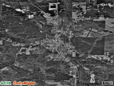 Talbotton satellite photo by USGS