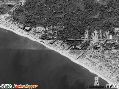 Mexico Beach satellite photo by USGS