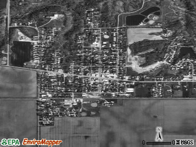 Hanna City satellite photo by USGS