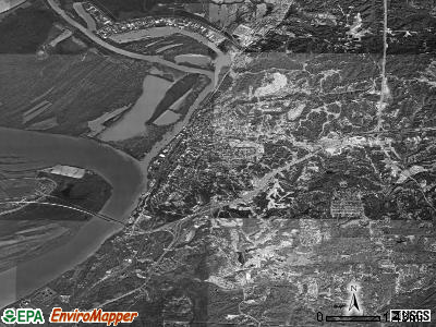 Vicksburg satellite photo by USGS
