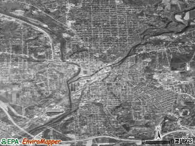 New Castle satellite photo by USGS