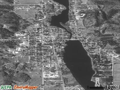 Central Lake satellite photo by USGS