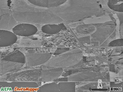 Basin City satellite photo by USGS
