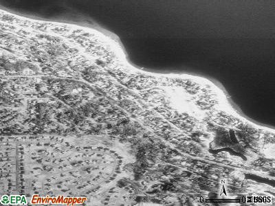Birchwood Village satellite photo by USGS