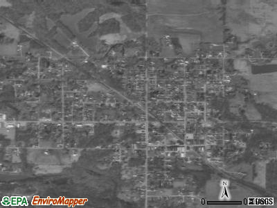 Dugger satellite photo by USGS