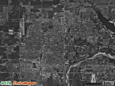 Ponca City satellite photo by USGS