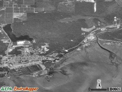 Ilwaco satellite photo by USGS
