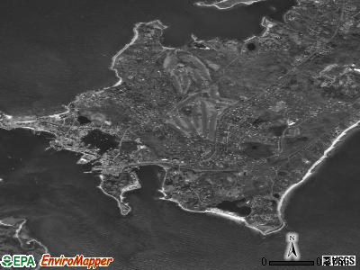 Woods Hole satellite photo by USGS