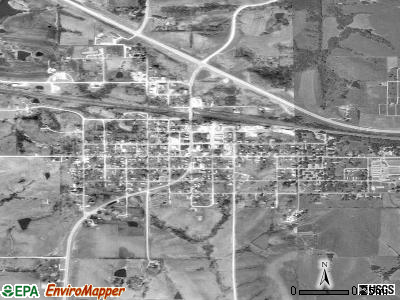 Afton satellite photo by USGS