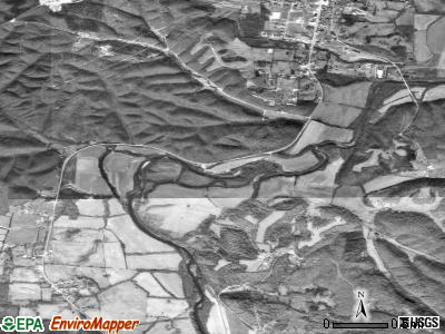 Lobelville satellite photo by USGS