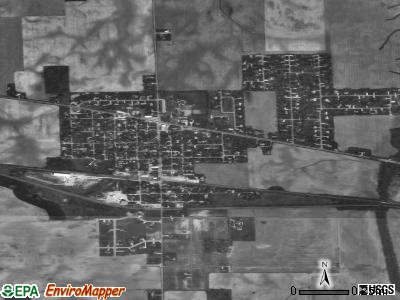 Sweetser satellite photo by USGS