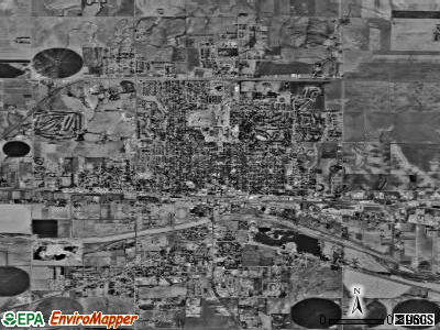 Dodge City satellite photo by USGS
