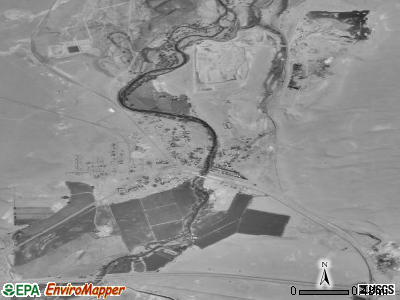 Wadsworth satellite photo by USGS