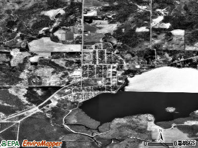 Rib Lake satellite photo by USGS