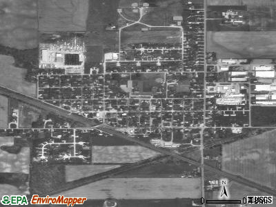 Millersburg satellite photo by USGS