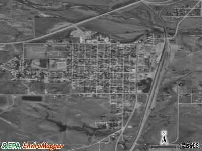 Edgemont satellite photo by USGS