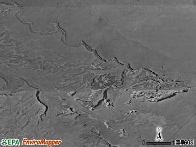 Oljato-Monument Valley satellite photo by USGS