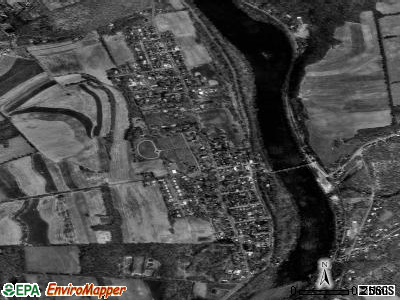 Riegelsville satellite photo by USGS