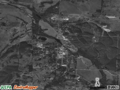 South West City satellite photo by USGS