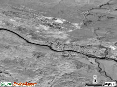 Gardiner satellite photo by USGS