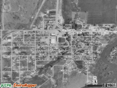Ennis satellite photo by USGS