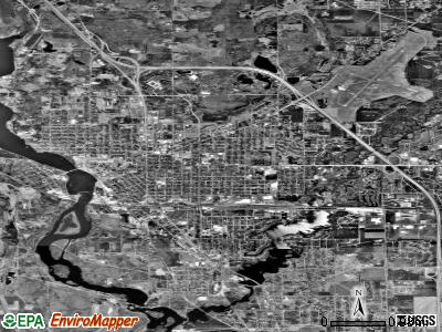 Stevens Point satellite photo by USGS