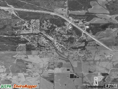 Kilmichael satellite photo by USGS