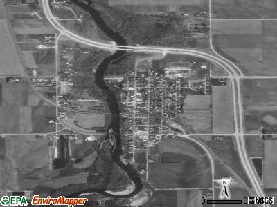 Janesville satellite photo by USGS