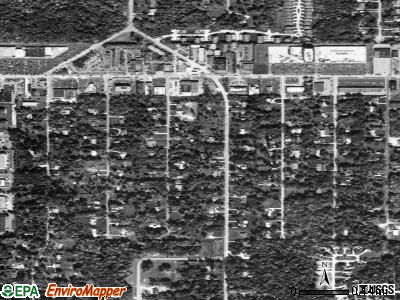 Woodmere satellite photo by USGS